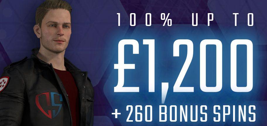 Captain Spins Casino Welcome Bonus