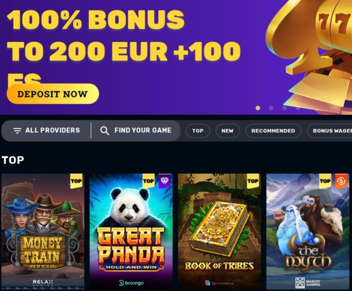 100% Bonus to 200 EUR