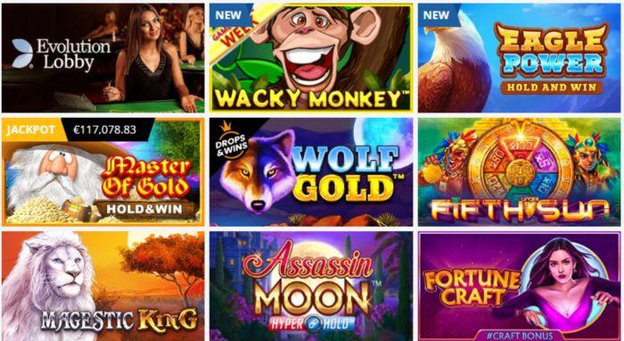Casino Games It Provides
