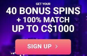 Spin Galaxy Casino Welcome Bonus